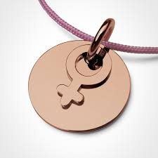 i am a girl pendant in 750 pink gold by the jewellery collection for children mikado