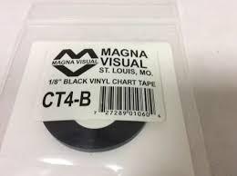 1 8 Chart Tape Magna Visual Ct4 B Chart Tape 1 8 In W X 27 Ft L Black