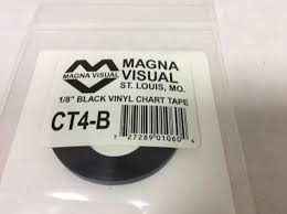 Magna Visual Chart Tape Magna Visual Ct4 B Chart Tape 1 8 In W X 27 Ft L Black