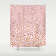 fun shower curtains for adults. Shower Curtain - Floating Confetti Dots Pink Blush White Gold 71\ Fun Curtains For Adults