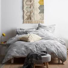 cstudio home by the company wave black white organic queen duvet cover