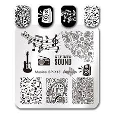 music note stamp born pretty nail art stamp template musical note stamping image