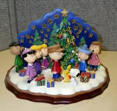 Charlie Brown Night Light Peanuts Christmas Carolers Charlie Brown Snoopy Danbury Mint Tea Light Candle