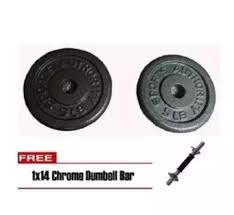 sports authority 10lbs dumbbell plates set of 2 with 1x14 chrome dumbbell bar