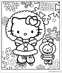 The resolution of png image is 500x635 and classified to hello kitty ,lightsaber ,lightsaber blade. Hello Kitty In The Winter Coloring Pages Cartoons Coloring Pages Free Printable Coloring Pages Online