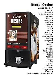 Vending Machine Rental Cost Magnificent Café Desire Coffee Tea Vending Machine 48 Lane Includes Tea Sachet