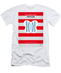 No098 My Papillon Minimal Movie Poster Mens T Shirt Athletic Fit