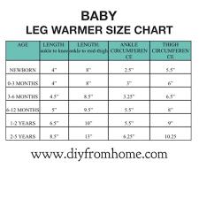 Leg Warmer Size Chart Diy From Home