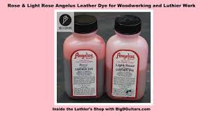 Rose And Light Rose Angelus Leather Dye For Woodworking And Luthier Work