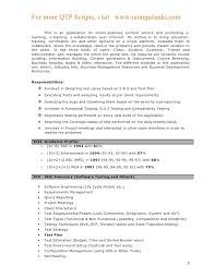 Qtp Sample Resume For Software Testers Download Test 5 Tester