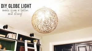 globe lighting fixture. diy string globe light fixture lighting o