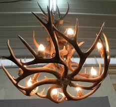 one other image of diy antler chandelier