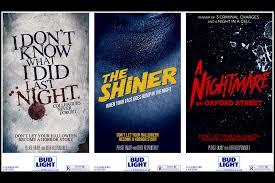 Bud Light Advertising Classic Horror Movie Posters Warn Of Overindulgence In Bud
