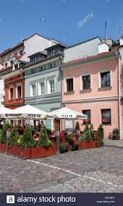Outdoor restaurants at kazimierz district krakow lesser poland poland europe