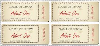Show Ticket Template Word Ticket Template 6 Ticket Templates For Word To Design Your Own