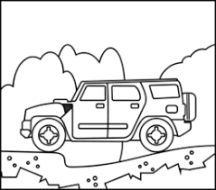 Small Picture Off Road Car Coloring Page Printables Apps for Kids