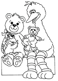 Printable Birthday Coloring Pages Free Sesame Street Coloring Pages