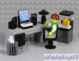 Office lego Billund Image Is Loading Legoofficeworkerminifigurewdeskwatercooler Ebay Lego Office Worker Minifigure W Desk Water Cooler Coffe Maker