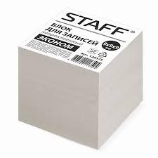 <b>Блок для записей STAFF</b>, непроклеенный, куб 9х9х9 см – купить ...