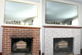 fireplace makeover high temperature paint for doors inside brick