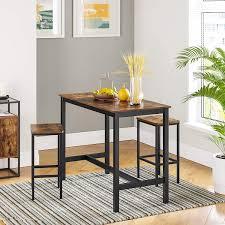 VASAGLE ALINRU <b>Bar Stools</b>, Set of <b>2 Bar Chairs</b>, Kitchen ...