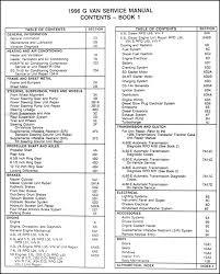 1998 gmc savanna wiring diagrams 1998 automotive wiring diagrams description 1996gmgvan toc1 gmc savanna wiring diagrams