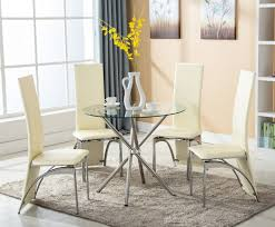 eight hours piece dining table set w chairs glass pictures on astonishing round glass dining room table and chairs set for di