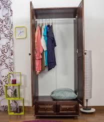 Schlafzimmer Schrank Landhaus Farbe Nuss 190x80x60 Cm Türen 2