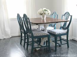 transformed dining room table and chairs