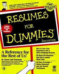 40 Resumes For Dummies AbeBooks Joyce Lain Kennedy Gorgeous Resume For Dummies