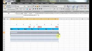 How To Make Perpetual Calendar Using Formula In Excel 2007 Youtube