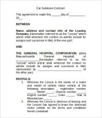 Sublease Contract Template - 9+ Free Word, Pdf Documents Download ...