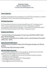 Sap Fico Fresher Resume Sample Best of Resume Samples For Freshers Sap Resume Sample Sap Resume Sample For