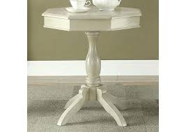 antique white accent table round of
