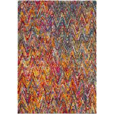 surya rainbow bright pink 5 ft x 7 ft area rug