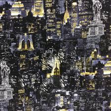 New York New York City Skyline Cotton Quilt Fabric BE21 &  Adamdwight.com