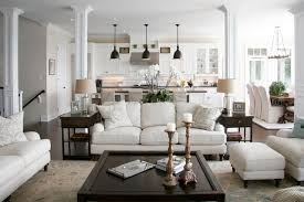 houzz furniture. Living Room Furniture Decor White Sofa Cushions Wooden Table Chandelier Pouf End Houzz