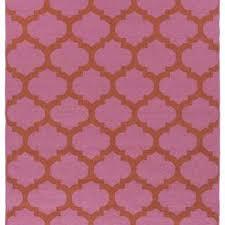 pink and orange quatrefoil outdoor rug