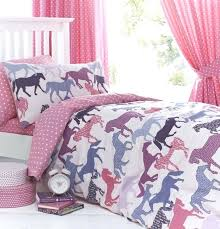 gallop pink girls horse bedding duvet cover set sheet or curtains girl duvet covers twin whole
