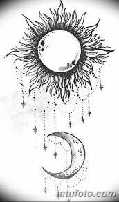 черно белый эскиз тату рисункок солнце 11032019 034 Tattoo