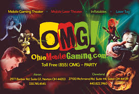 omg invitations inflatables mobile video game parties if time allows we will send you as many post card format party invitations as you need seen below they are professionally printed on both sides