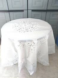 90 inch round plastic lace tablecloths plastic tablecloths for wedding vinyl lace round tablecloth white new