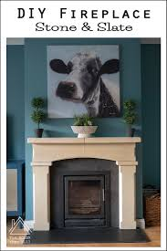 the house that will diy stone slate fireplace how to cut and reuse