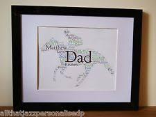 personalised word art horse racing jockey grand national dad birthday gift frame