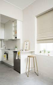 white wall paint interior design ideas kitchen white brick wall light grey floor tiles