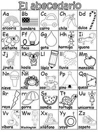 Spanish Alphabet Chart Pdf Spanish Alphabet Worksheets For Kindergarten Antihrap Com