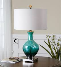 glass table lamps for living room. uttermost yvonne green blue glass table lamp for the living room lamps