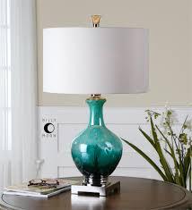 uttermost yvonne green blue glass table lamp for the living room