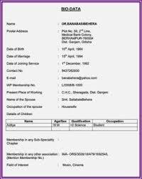 biodata and resume 5 biodata form pdf childcare resume biodata format in 2019