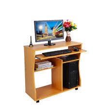 office computer furniture. wooden home office computer desk study furniture mobile workstation laptop table